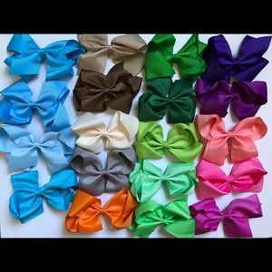 "6"" baby girl alligator clip bows"